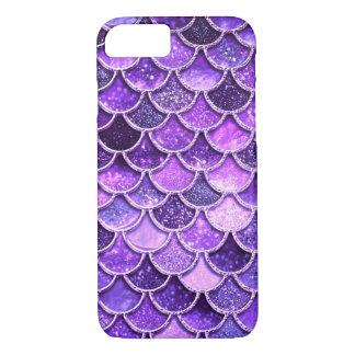 Capa iPhone 8/ 7 Escalas ultravioletas da sereia do brilho
