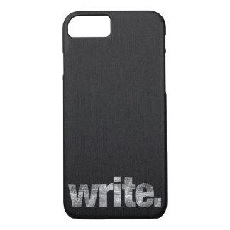Capa iPhone 8/ 7 Escreva: Escritor, escritor Freelance, autor