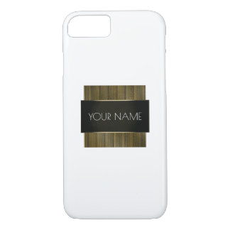 Capa iPhone 8/ 7 Escritório mínimo conceptual branco do ouro preto
