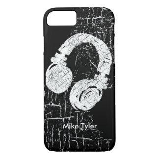 Capa iPhone 8/ 7 esfrie para o disco-jóquei - um auscultadores de