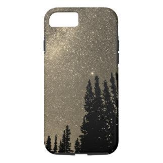 Capa iPhone 8/ 7 espace no sepia colorido da galáxia das madeiras