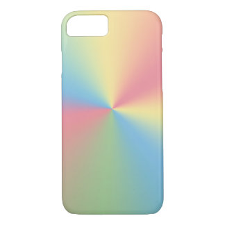 Capa iPhone 8/ 7 espectro pastel do arco-íris