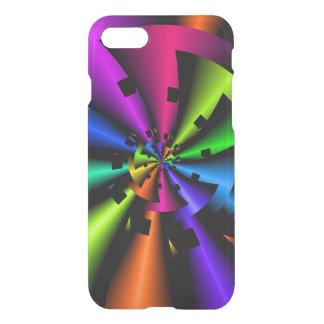 Capa iPhone 8/7 Espiral metálica do arco-íris do Fractal