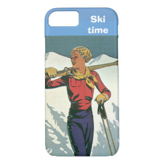 Capa iPhone 8/ 7 Esportes de inverno - tempo do esqui