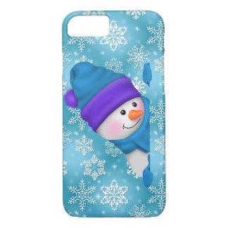 Capa iPhone 8/ 7 Espreitando o caso do iPhone 7 do boneco de neve