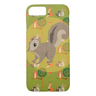Capa iPhone 8/ 7 Esquilo bonito do bicho da floresta