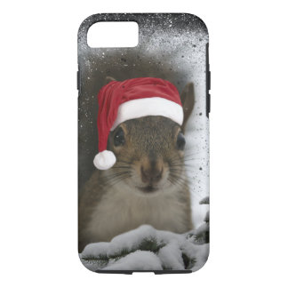 Capa iPhone 8/ 7 Esquilo original adorável do papai noel na neve