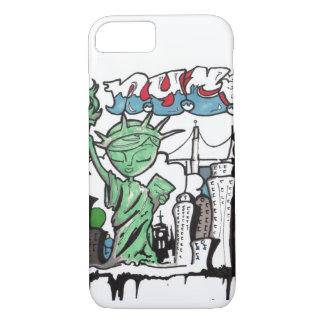 Capa iPhone 8/ 7 Estátua da liberdade dos grafites