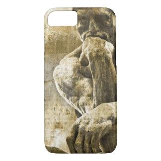 Capa iPhone 8/ 7 Estátua de bronze afligida Auguste Rodin o