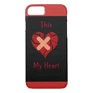 Capa iPhone 8/ 7 Este meu cobrir do caso do coração quebrado