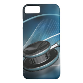 Capa iPhone 8/ 7 Estetoscópios médicos da enfermeira