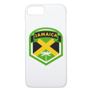 Capa iPhone 8/ 7 Estilo jamaicano da crista da bandeira