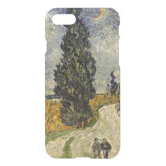 Capa iPhone 8/7 Estrada com ciprestes, 1890 de Vincent van Gogh |