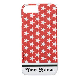 Capa iPhone 8/ 7 Estrela branca no fundo vermelho