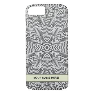 Capa iPhone 8/ 7 Estrela cinzenta do caleidoscópio