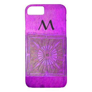 Capa iPhone 8/ 7 ESTRELA DA MANHÃ, roxo, preto, monograma