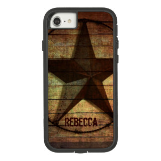 Capa iPhone 8/ 7 Estrela de Texas de madeira do celeiro primitivo