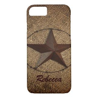 Capa iPhone 8/ 7 Estrela de Texas primitiva de serapilheira rústica