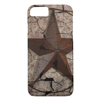Capa iPhone 8/ 7 Estrela de Texas primitiva rústica do país