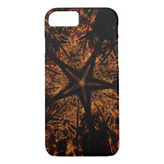 Capa iPhone 8/ 7 Estrela Kaleidoscopic escura elegante de Brown do