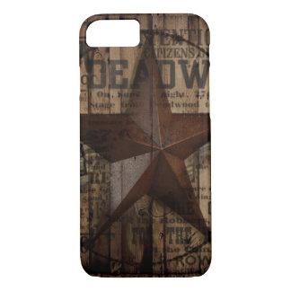 Capa iPhone 8/ 7 Estrela solitária de madeira de Texas do país
