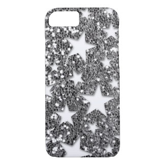 Capa iPhone 8/ 7 Estrelas brancas no olhar de prata do brilho