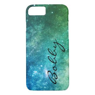 Capa iPhone 8/ 7 Estrelas coloridas/verdes da galáxia