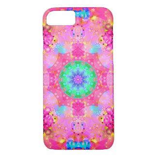 Capa iPhone 8/ 7 Estrelas & teste padrão cor-de-rosa do Fractal das