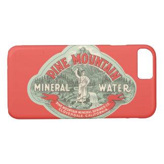 Capa iPhone 8/ 7 Etiqueta do produto do vintage, água mineral da