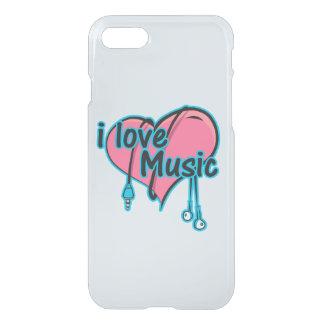 Capa iPhone 8/7 Eu amo a música