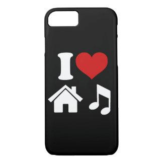 Capa iPhone 8/ 7 Eu amo a música da casa