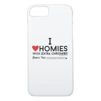 Capa iPhone 8/ 7 Eu amo homies com a caixa extra dos chromies