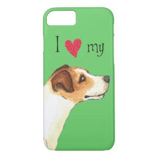 Capa iPhone 8/ 7 Eu amo meu Jack Russell Terrier