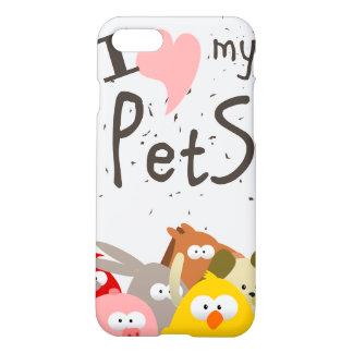 Capa iPhone 8/7 eu amo meus animais de estimação