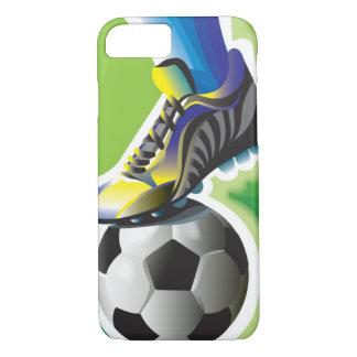 Capa iPhone 8/ 7 Eu amo o caso do iPhone 7 do futebol