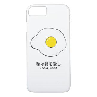Capa iPhone 8/ 7 Eu amo ovos