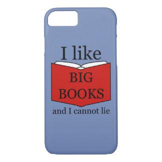 Capa iPhone 8/ 7 Eu gosto de livros grandes