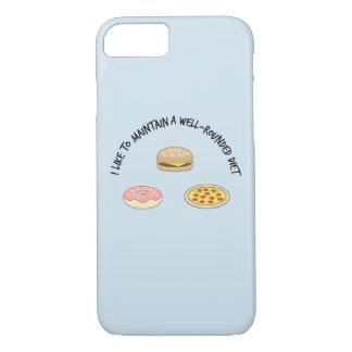 Capa iPhone 8/ 7 Eu gosto de manter uma dieta total