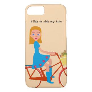 Capa iPhone 8/ 7 Eu gosto de montar minha bicicleta