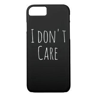 """Capa iPhone 8/ 7 """"EU NÃO ME IMPORTO"""" o iPhone 7 toda a caixa preta"""