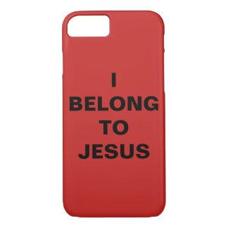 """Capa iPhone 8/ 7 """"Eu pertenço ao iPhone de Jesus"""" Apple 8/7 de caso"""