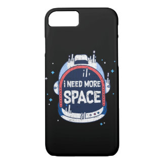 Capa iPhone 8/ 7 Eu preciso mais capacete aeroespacial de Rocket do