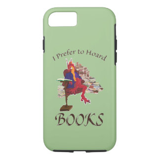 Capa iPhone 8/ 7 Eu prefiro acumular livros