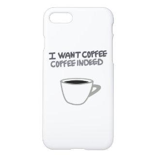 Capa iPhone 8/7 EU QUERO a caixa do CAFÉ iPhone7/8