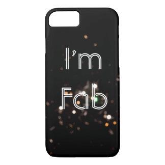 Capa iPhone 8/ 7 Eu sou caso Sparkly fabuloso