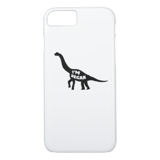 Capa iPhone 8/ 7 eu sou presente do vegetariano do dinossauro do
