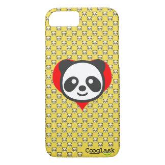 Capa iPhone 8/ 7 Eu sou uma panda! Cobrir, textura com a panda,
