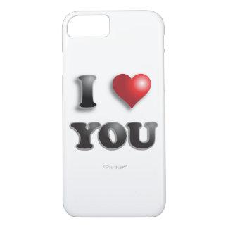 Capa iPhone 8/ 7 EU TE AMO!!! Bons sentimentos felizes da mensagem