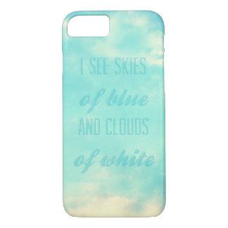 Capa iPhone 8/ 7 Eu ver céus do azul e nuvens do branco