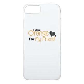 Capa iPhone 8/ 7 Eu visto a laranja para minha consciência da fita